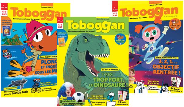 Les couvertures des derniers magazines Toboggan