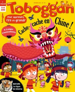 Toboggan joue à cache-Cache en Chine en Février 2015