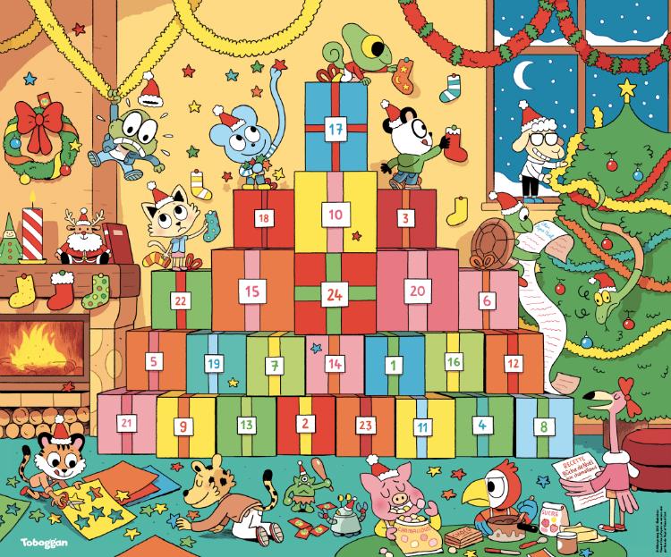Calendrier de l'Avent Toboggan Noël