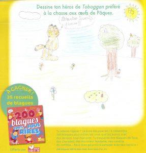 Assya.C(91) - concours Toboggan d'avril 2018 (n° 449), « Dessine ton héros de Toboggan préféré à la chasse aux œufs de Pâques »