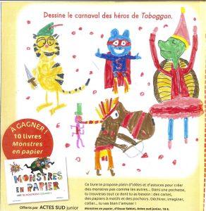 """Edgar.E-P (45) - Concours """" Dessine le carnaval des héros de Toboggan ! """""""