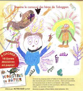 """Elsa.D (85) - Concours """" Dessine le carnaval des héros de Toboggan ! """""""