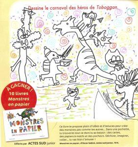 "Hugo.B (44) - Concours "" Dessine le carnaval des héros de Toboggan ! """