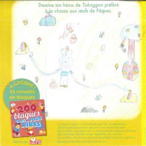 Julia.J(06) - concours Toboggan d'avril 2018 (n° 449), « Dessine ton héros de Toboggan préféré à la chasse aux œufs de Pâques »