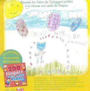 Julia.S(92) - concours Toboggan d'avril 2018 (n° 449), « Dessine ton héros de Toboggan préféré à la chasse aux œufs de Pâques »