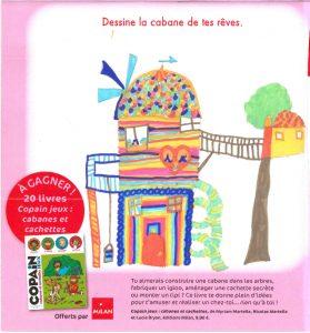"""Bleuenn.P(56) - Concours Toboggan """"Dessine la cabane de tes rêves"""""""