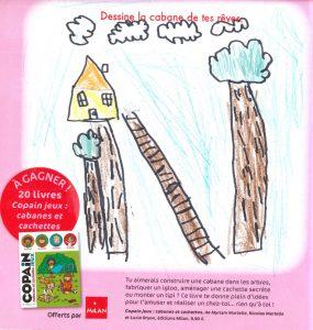 """ClubCoupDePouce_Noah.B(75) - Concours Toboggan """"Dessine la cabane de tes rêves"""""""