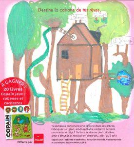 """Lisa.M(69) - Concours Toboggan """"Dessine la cabane de tes rêves"""""""