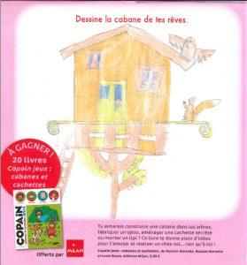 """Lison.P(59) - Concours Toboggan """"Dessine la cabane de tes rêves"""""""