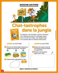 Mission lecture avec Toboggan Magazine : Chat-tastrophes dans la jungle