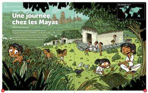 Documentaire histoire : une journée chez les Mayas dans Toboggan Magazine