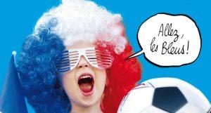 Dessine un héros Toboggan en supporter de l'équipe de France de football