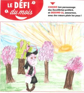 """Alix. L - Concours Toboggan """"Dessine ton Excalibrius préféré amoureux"""""""