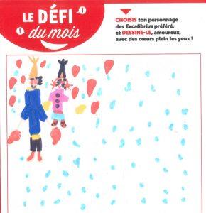 """Ecole Barbanegre - Concours Toboggan """"Dessine ton Excalibrius préféré amoureux"""""""