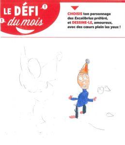 """Ecole Cavé Coup de pouce CPB - Concours Toboggan """"Dessine ton Excalibrius préféré amoureux"""""""