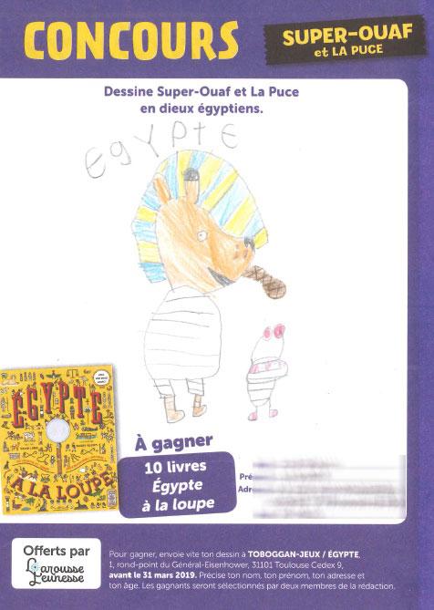 Super-Ouaf et La Puce en dieux Égyptien - Dessin de Liyam.-C-(85)