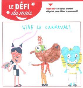 Dessine ton héros préféré déguisé pour fêter le carnaval avec Toboggan magazine