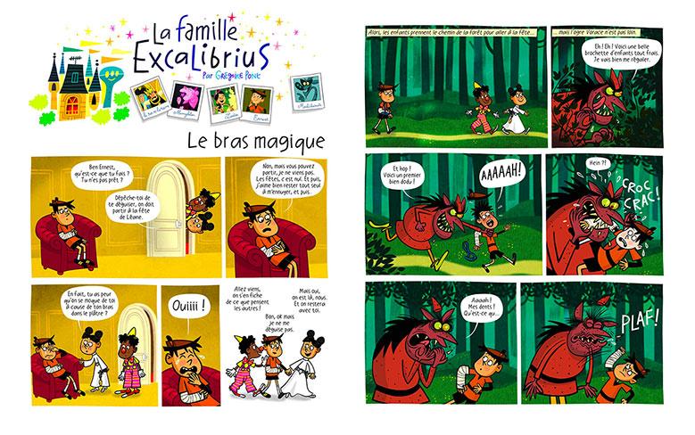 La famille Excalibrius - Toboggan magazine