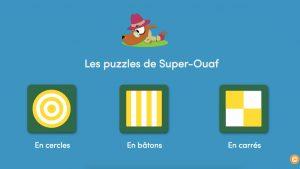 Jeu puzzle Super-Ouaf Toboggan magazine